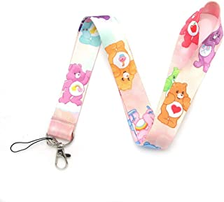 RedDoor_Hill Care Bears Kids Keychain ID Card Pass Gym Mobile Phone Badge Holder Hang Rope Lariat Lanyard Key Holder