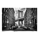 Bilderwelten Fotomural Premium - Manhattan Bridge in America - Mural apaisado papel pintado fotomurales murales pared papel para pared foto 3D mural pared barato decorativo, Tamaño: 255cm x 384cm