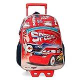 Disney Cars Speed Trails Mochila con Carro, 38cm, Rojo