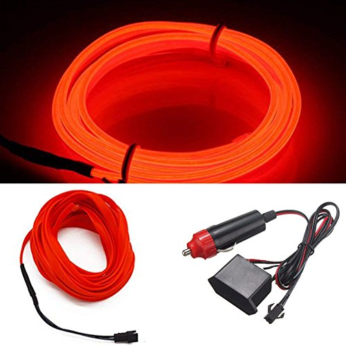 neon car lights red - 7