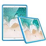 MoKo Funda Compatible con New iPad Air (3rd Generation) 10.5' 2019/iPad Pro 10.5 2017, Lightweight Cubierta Shockproof Cover Case Esquina Silicona Protector Funda - Azul