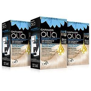 Garnier Olia Decolorante extremo D+++ - Pack de 3 decolorante permanente sin amoniaco con aceites florales de origen natural