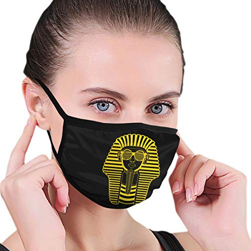 BAGR Farao Van Egypte Gedrukt Masker Voor Mannen & Vrouwen - Masker kan worden gewassen Herbruikbaar Masker Een Grootte Meerdere Patronen