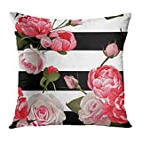 Emvency Throw Pillow Covers Colorful Floral...