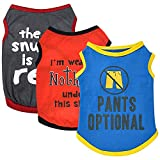 Sebaoyu 3 Pieces Puppy Clothes for Small Dogs Boy Girl Boy Summer Dog Shirts Outfit Pet Cat Clothing for Yorkie Chihuahua Teacup French Bulldog Pomeranian (S)