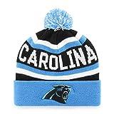 OTS NFL Carolina Panthers Men's Jasper Cuff Knit Cap with Pom, Team Color, One Size