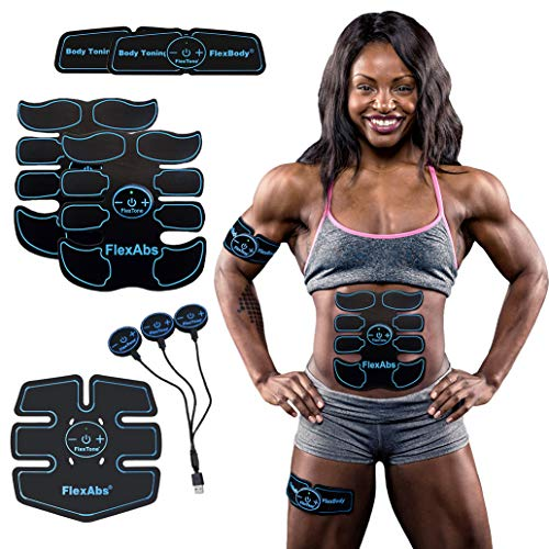 Abs Stimulator Muscle Toner - FDA Cleared   Rechargeable Wireless EMS Massager   The Ultimate Electronic Power Abs Trainer for Men Women & Bodybuilders   Abdominal, Arm & Leg Training (3 Motors)