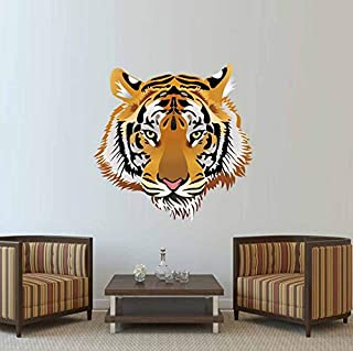 TWJYDP Wall Sticker Wallstickers Wild Animal Big Tiger Head Wall Sticker Vinyl 3D Tiger Wall Decal DIY Art Mural for Living Room Vintage Home Decor 36X36Cm