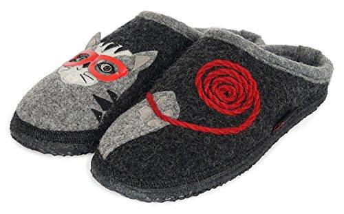 GIESSWEIN Filzpantoffel Nittel - Atmungsaktive Damen Hausschuhe | Winter Slipper aus 100% Wolle | Reine Wollfilz Pantoffeln