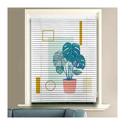 CAIJUN Persianas Venecianas Aleación De Aluminio Cortina Impermeable Impresión HD Cuarto De Baño Cocina A Prueba De Aceite Decoración, 4 Colores (Color : B, Size : 60x180cm)