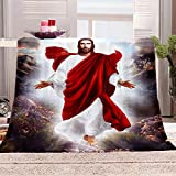 SHHSGZ Mi fe en Jesus Cobijas de Grandes Mantas Suave de Franela Mantas para...