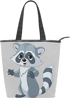 Malplea Cartoon Waschbär Schultertasche für Damen Arbeitstasche