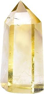 IMIKEYA Natural Gem Stone Crafts Crystal Amethyst Topaz Quartz Point Wand Hexagonal Pillar Prism Bar Tabletop Decor For Re...