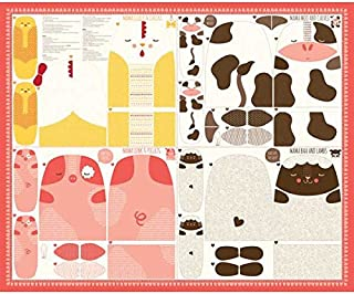 Moda Fabrics Farm Fun by Stacy Iest Hsu Animal Panel Multi
