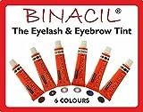 BINACIL Wimpernfarbe licht-braun 15 ml Augenbrauenfarbe Wimpernfarbe