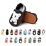 Baby Girl Shoes Baby Boy First Walking Shoes Soft Sole Infant Pre Walker Toddlers Slippers Booties PU Leather Slip-on Pram Non Slip Indoor-1 BKKL 0-6 Months