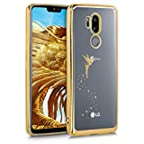 kwmobile LG G7 ThinQ/Fit/One Hülle - Handyhülle für LG G7 ThinQ/Fit/One - Handy Case in Fee Design Gold Transparent