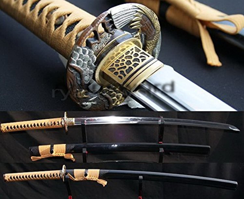 Handmade Full Tang Clay Tempered Combined Material Japanese Katana Sword