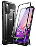 SupCase Unicorn Beetle Pro Series Designed for Samsung Galaxy S20 FE Case (2020 Release), Full-Body Dual Layer Rugged Holster & Kickstand Case with Built-in Screen Protector (Black)