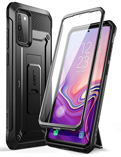 SUPCASE Capa Unicorn Beetle Pro Series projetada para Samsung Galaxy S20 FE (versão 2020), coldre robusto de camada dupla e suporte com protetor de tela integrado (preto)