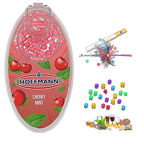 Bolas de molienda de cigarrillos de menta 100 piezas portátiles mini cápsulas de menta menta 100 cuentas de bricolaje varias bolas de sabor a elegir, cereza,