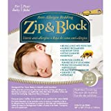 Zip&Block Waterproof Hypoallergenic Crib Mattress Protector Encasement with Breathable Comfort-Bed Bug Proof - Zipper Closure- Washable