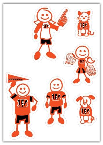 NFL Siskiyou Sports Fan Shop Cincinnati Bengals Family Decal Set Small One Size Team Color