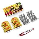 Set of 4 Taco Holders – B-KoSi – Stainless Steel Taco Holders
