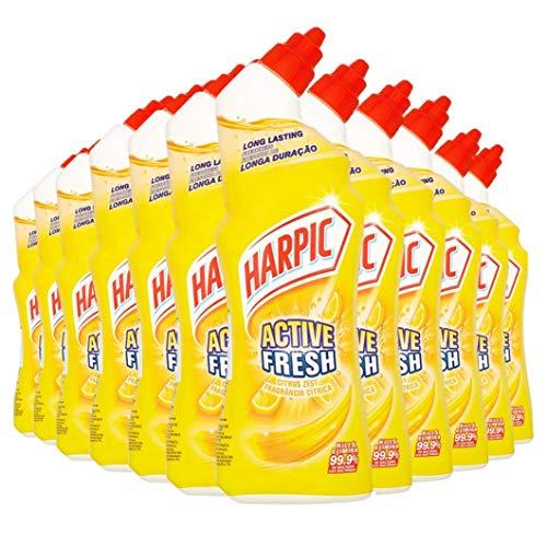 Harpic Active Fresh Toilet Cleaning Gel 750ml - Citrus Zest, Pack of 12