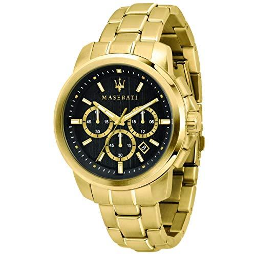 Reloj para Hombre, Colección Successo, cronografo, en Acero y PVD Oro Amarillo - R8873621013