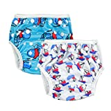 ALVABABY Swim Diapers 2pcs Reuseable Adjustable 0-24 mo.Size SW01-02