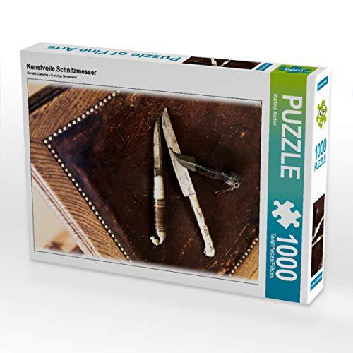 CALVENDO Puzzle Kunstvolle Schnitzmesser 1000 Teile Lege-Größe 48 x 64 cm Foto-Puzzle Bild von Martina Marten