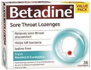 Betadine Sore Throat Lozenges Menthol & Eucalyptus 36