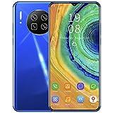 Moviles Libres Baratos 3G (1+8 GB) Android Celulares Desbloqueados Teléfonos Móviles Libres Moviles Baratos con Huella Dactilar, Pantalla de 6.26 Pulgadas, 5MP + 2MP, Dual Sim, Face ID, GPS(Azul)