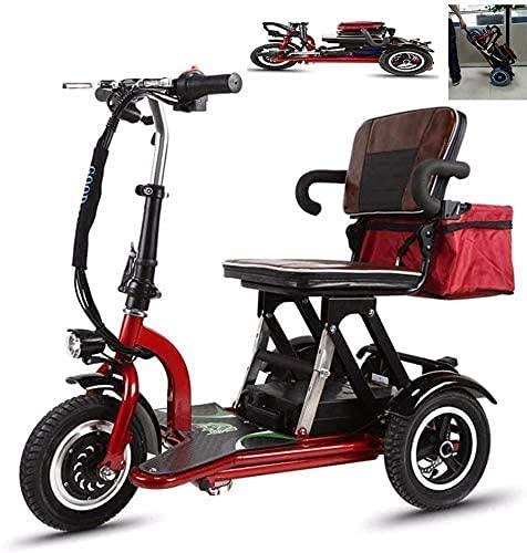 CYGGL Triciclo Eléctrico Mobility Scooter para Adultos Plegable, Silla De Ruedas Eléctrica...