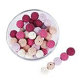 Promise Babe 16mm 40pc Serie Rosa Crochet Cuentas De Madera Collar De Dentición...