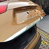 Compatible con Nissa-n Qashqai 2016-2019 Cromo Tapa de la Tapa del Portón Trasero, Ronco Trasero Tira de Puerta Trasera Pegatina Protector de Parachoques Accesorios del Estilo