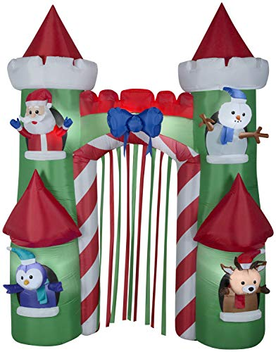 Gemmy 9' Airblown Archway Santa's Castle Christmas Inflatable