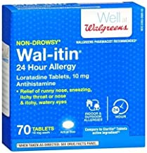 Wal-itin Non-Drowsy 24 Hour Allergy Relief Tablets