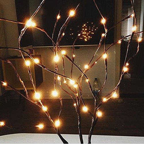 LED Willow Branch Lamp Lumières Florales 20 Ampoules Maison Christmas Party Garden Decor,Convient aux familles/parties/banquet de noël halloween/mariage (Jaune)