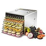 UROK 1000W Essiccatore Frutta e Verdura 10 Piani Essiccatore Alimentare 55L Essiccatori per Alimenti...