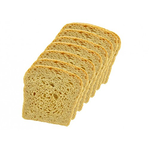 Low Carb Hearty White Bread (8 Slice Pack) - Fresh Baked - LC Foods - All Natural - No Sugar - High Protein - Diabetic Friendly - Keto Bread - Low Carb Bread