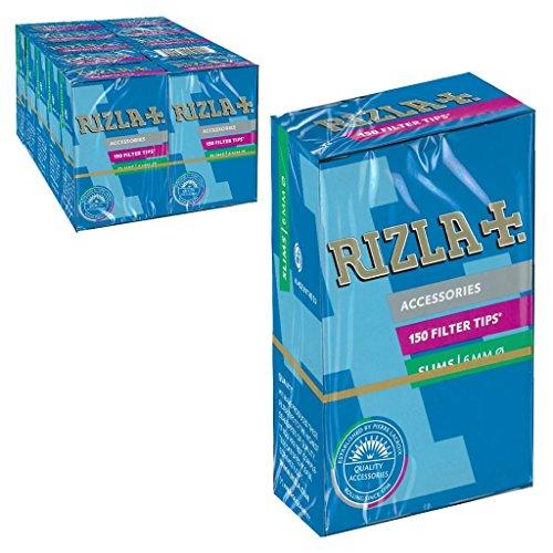 RizlaTrade 1500 FILTRI RIZLA Slim da 6 mm per Sigarette 10 SCATOLE Box da 150 FILTRINI