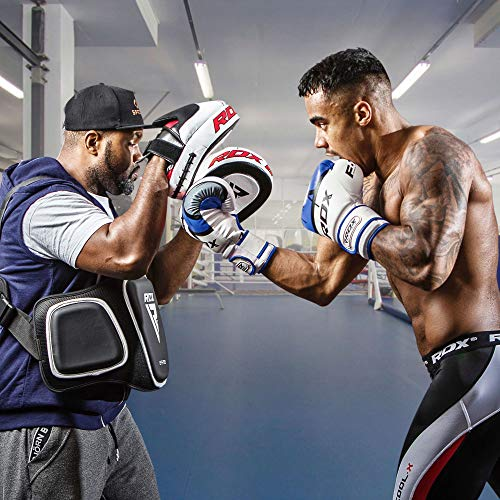 RDX Ego Boxing Gloves Muay Thai Training Maya Hide Leather Sparring Punching Bag Mitts kickboxing Fighting