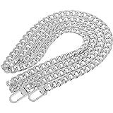 Pofet - Tracolla a catena di ricambio per borse, 120cm - argento
