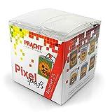 Pixel Divertido Set de 25 para crear 6 medallones, llavero, para niños, niños y niñas, ideal como pequeño regalo, obsequio, para cumpleaños infantiles , color/modelo surtido