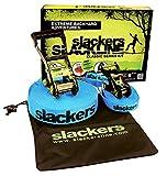 Slackers Slackline-Set Classic, 15 m lang, 5 cm breit mit Hilfsseil