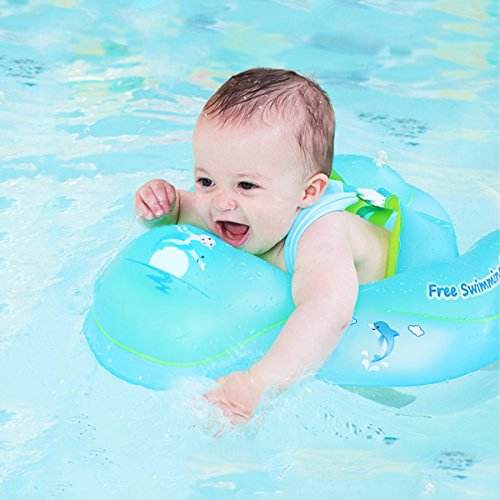 Loyo Baby-Schwimmring, verstellbar, aufblasbarer Schwimmring mit weichem und sichern Stuhl für neugeborene Babys