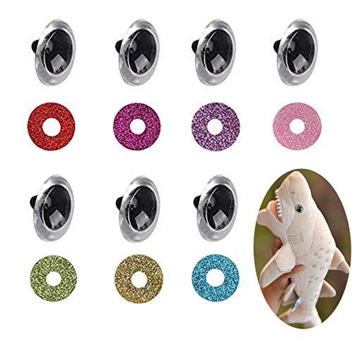 70 Piezas Ojos de Muñeca Ojos de Plástico Ojos de Muñeca Ojos de Seguridad Ojos Seguridad de Plástico Ojos de Plástico Ojos de Peluche con Arandelas para Muñeco de Peluche Muñeco de Peluche Muñeco