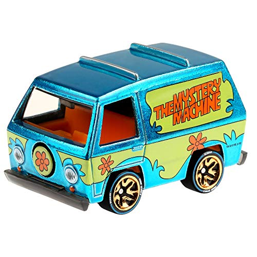 Hot Wheels id Vehicle, 1:64 Scale The Mystery Machine Vehicle with Embedded NFC Chip, World Race Collection, Physical and Digital Play for Ages 8 Years and Older
